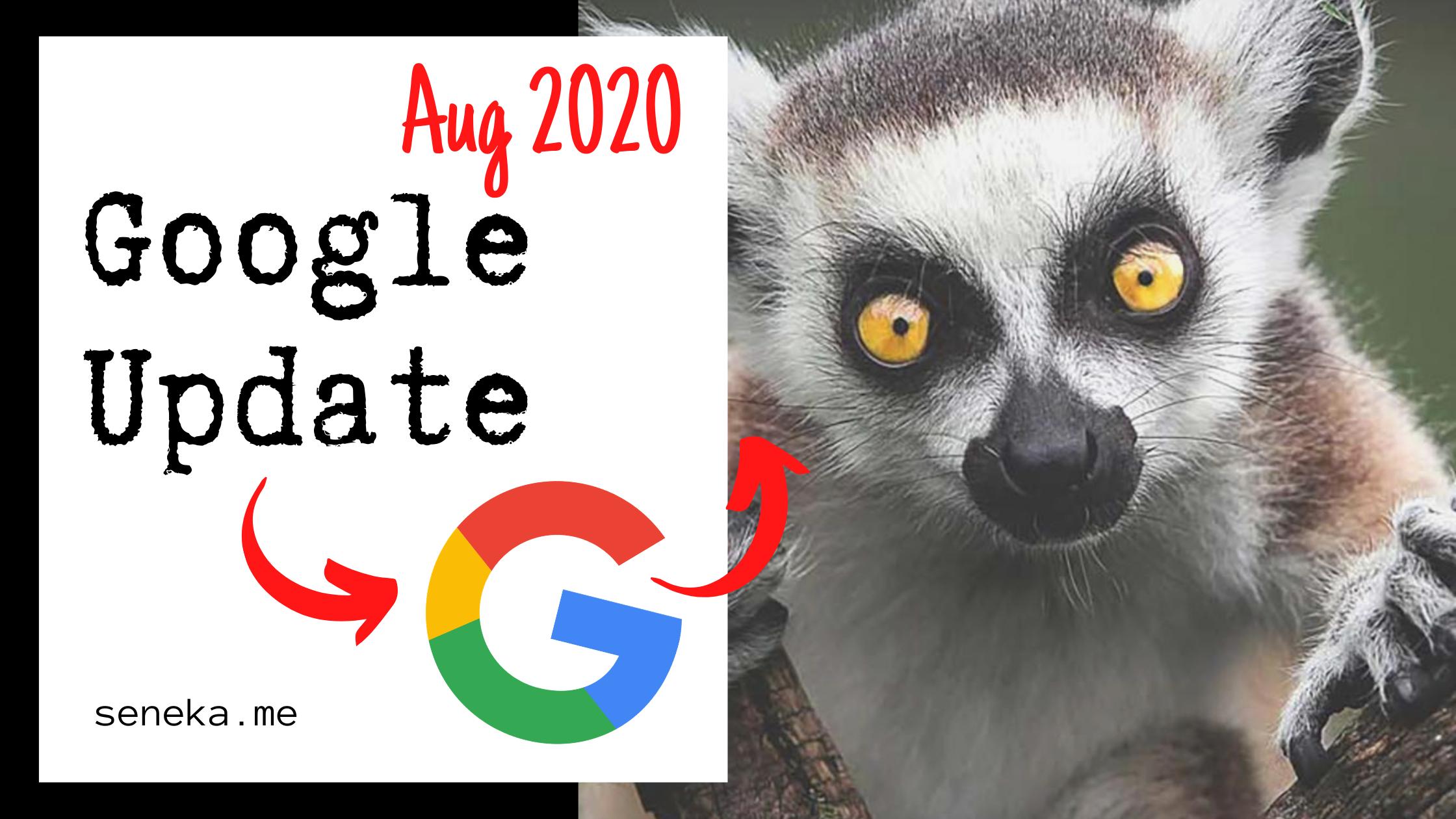 Actualización del algoritmo de Google, Agosto de 2020. Gran Google Update.